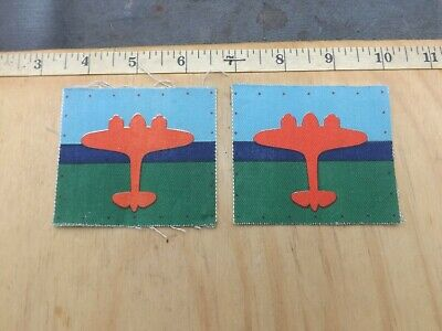 £6 • Buy WW2, Pair, AIR FORMATION SIGNALS, Printed, Sleeve Patches