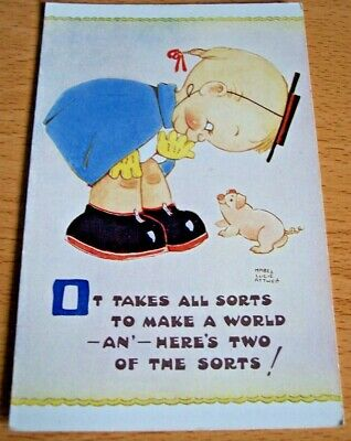 $3.45 • Buy It Takes All Sorts To Make A World Mabel Lucie Attwell Postcard