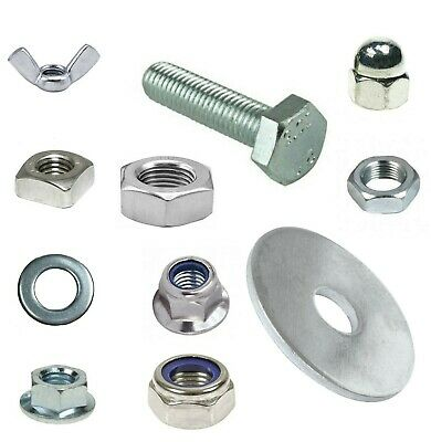 £7.25 • Buy M10 X 75mm  Full Thread Bolts With A Choice Of Nuts & Penny Washers BZP 10mm Dia