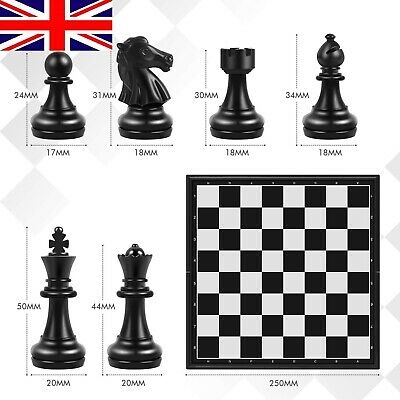 £16.90 • Buy Chess Board Set Game -Travel Magnetic Chess Piece Set With Chess Folding