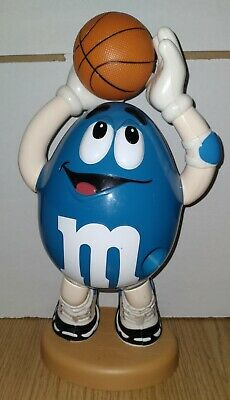 $20 • Buy M&M Collectible Blue Peanut Basketball Player Sports  Candy Dispenser Vintage