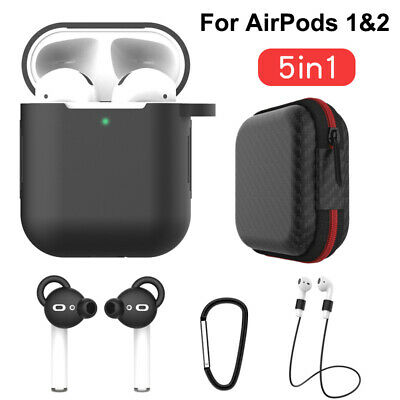 $ CDN5.70 • Buy 5in1 Cover Holder Hooks Kits Accessories Storage Bag For Apple AirPods 1/2 Case