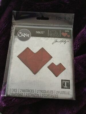 £7.99 • Buy Sizzix Thinlits Die Set Tim Holtz Faceted Heart 664156 New