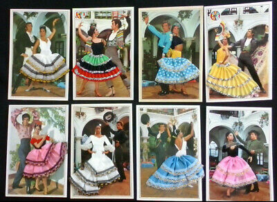 £1.35 • Buy Embroidered Postcards - Spanish Flamengo Dancers - Set Of 8