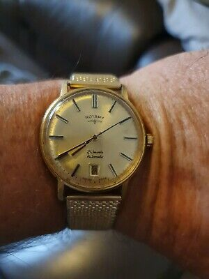 £19 • Buy Vintage Rotary Mens Watch 21 Jewells Automatic Good Working Condition