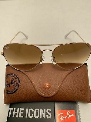 AU1.67 • Buy Ray-Ban Aviator Sunglasses RB3026 001/51 62-14mm Gold Frame Brown Gradient Lens
