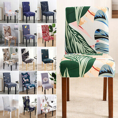 AU46.03 • Buy 1-6Pcs Dining Chair Seat Covers Removable Stretch Wedding Banquet Party Decor