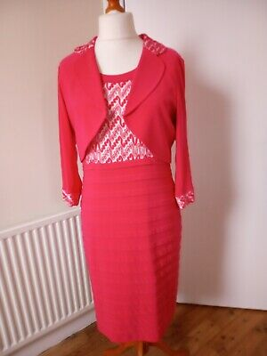 AU92.15 • Buy Tia=special Occasion Dress And Jacket= Red Bodycon Size 18 Bnwt