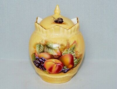 £12.50 • Buy Vintage, Aynsley Orchard Gold, Bone China Jar And Cover.
