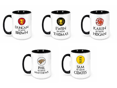 £10.99 • Buy Personalised Your First Name & House Surname - Game Of Thrones - Large 15oz Mug