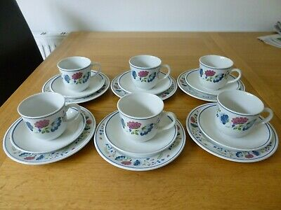 £25 • Buy 6 BHS Priory Trios - Cups Saucers Plates - British Home Stores