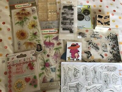 £5 • Buy New~x10 Stamp Sets~tonic~clear~pick Of Bunch~vintage Fence~dovecraft~hobby Art