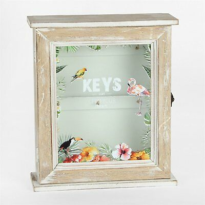 £16.99 • Buy Botanica Collection Floral Key Storage Cabinet Cupboard Box With Key Holder Rows