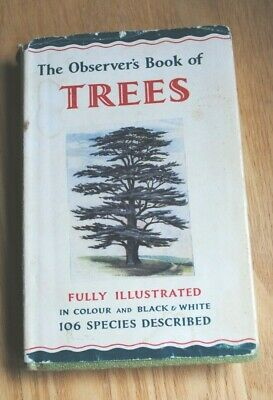 £4.50 • Buy The Observer's Book Of TREES Fully Illustrated Vintage 1966 #4 106 Species