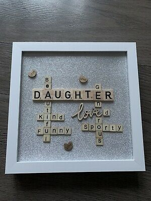 £15.50 • Buy Scrabble Wordle Picture Frame Personalised - 20 X 20 Cm