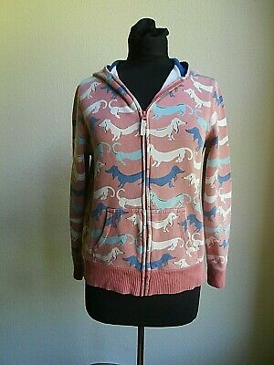 £4.99 • Buy Mini Boden Pink Zip Front Hoodie Dachshund Pattern Size 13-14 Years
