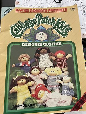 £2.15 • Buy 1984 Xavier Roberts CabbagePatch Kids DESIGNER CLOTHES Sewing Pattern Book