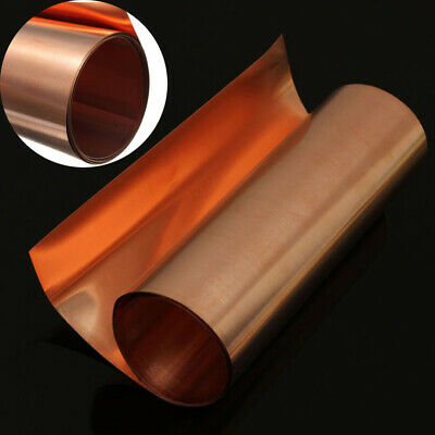 £7.33 • Buy UK 99.9% Pure Copper Sheet Plate Options Guillotine Cut 0.1mm,0.2mm,0.5mm Thick-