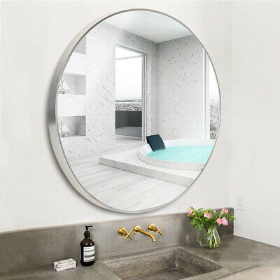 £24.95 • Buy Rustic Sliver Framed Bathroom Mirror With Pre Drilled Holes,Wall Hanging Fixings