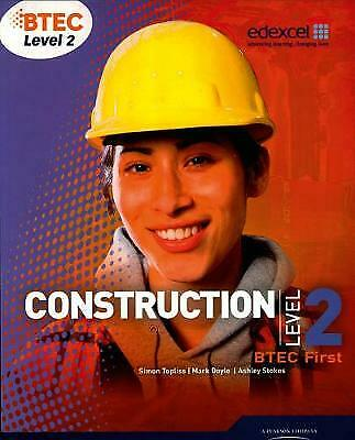 £31.61 • Buy BTEC Level 2 First Construction Student Book, Simon Topliss,  Paperback