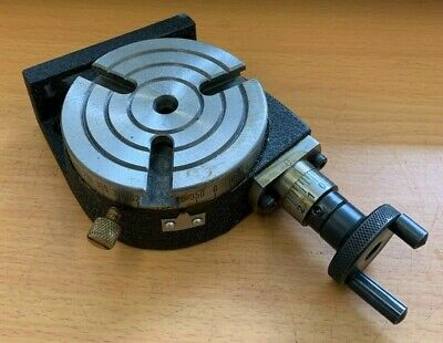 £50 • Buy Shop Soiled 75mm / 3  Rotary Table 3 Slot H/v Milling Lathes Engineering