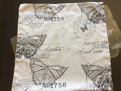 £6.44 • Buy French Country Pillow Cover Butterfly Linen Burlap