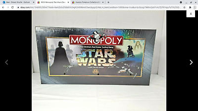 £14.31 • Buy NEW Monopoly Star Wars Classic Trilogy Edition Board Game 1997 FACTORY SEALED