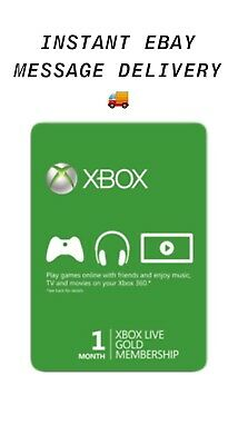$ CDN20.67 • Buy Xbox ONE/360 Live Gold - 1 Month