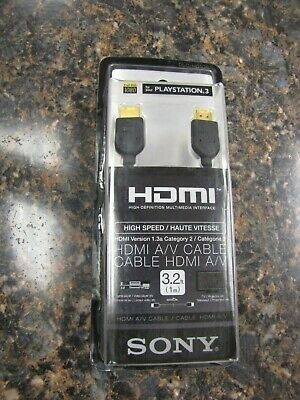 £1.80 • Buy SONY DLC-HD10P HIGH SPEED HDMI A/V Cable - Full HD - 3.2Ft