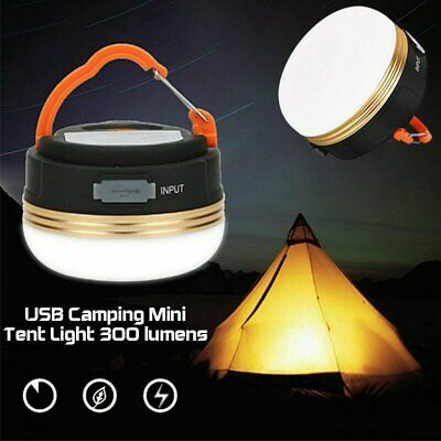 AU15.19 • Buy USB Rechargeable LED Camping Light Tent Lantern Super Bright Night Lamp Outdoor