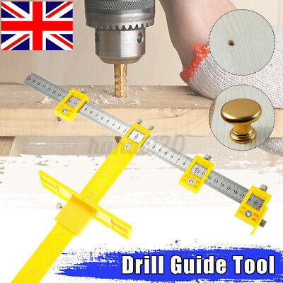 £9.69 • Buy Punch Locator Drill Guide Sleeve Cabinet Hardware Jig Drawer Pull Wood Dowel Too