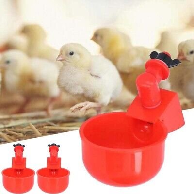 £4.89 • Buy 2Pcs Automatic Chicken Water Cup Drinking Bowl For Pigeon Pet Bird Poultry Cage