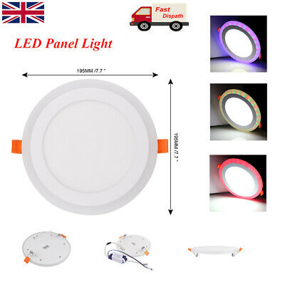 £5.58 • Buy 6-24W White RGB Dual Color Light LED Ceiling Recessed Panel Downlight Spot Lamp