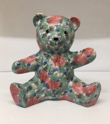 £19.99 • Buy Large Ceramic Floral Bear By Park Rose Bridlington 11 Inches Tall. Collectible
