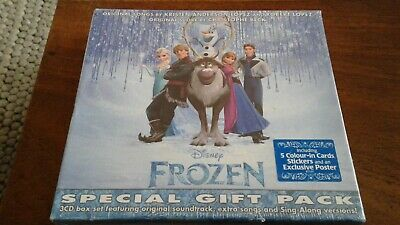 £3.99 • Buy Frozen - 3 X CD Special Gift Pack Box Set + Stickers & Poster Sealed
