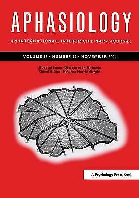 £51.35 • Buy Discourse In Aphasia Special Issues Of Aphasiology, Heather Harris Wright,  Pape