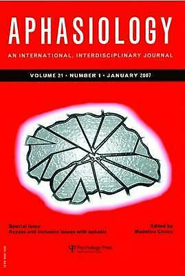 £49.67 • Buy Access And Inclusion Issues With Aphasia A Special Issue Of The Journal Aphasiol