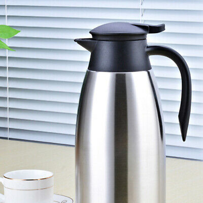 AU22.99 • Buy 2L  Double Walled Large Insulated Vacuum Flask Stainless Steel Thermos Carafes