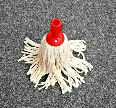 £7.50 • Buy Heavy Duty Replacement Cotton Floor Mop Head Screw Socket Type Red Colour Coded