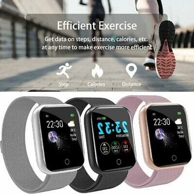 AU32.89 • Buy Waterproof Smart Watch Heart Rate Monitor Fitness Tracker For Android IPhone AU