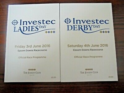 £7.95 • Buy Epsom Race Cards June 3rd & 4th, 2016 - The Derby & Oaks - Harzand & Minding