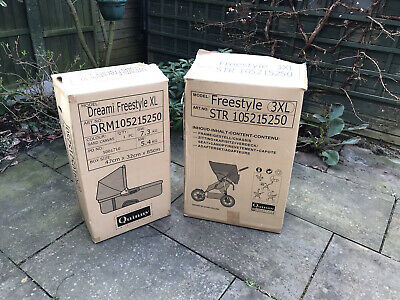 £50 • Buy Quinny Freestyle 3XL Pram & Dreami Freestyle XL Cot Carrier