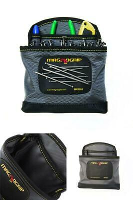 $14.99 • Buy Magnetic Clip-On Nail Pouch Platinum Storage Work Wear Tool Bag Repair Organizer