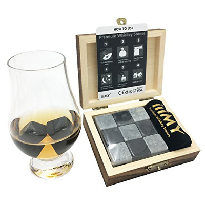 £10.79 • Buy IiiMY Whisky Stones Gift Set Of 9 Natural Soapstone And Granite Chilling Rocks