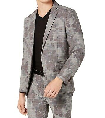$29.99 • Buy INC Mens Suit Seperates Gray Size XL Blazer Stretch Camouflage Print $129 281