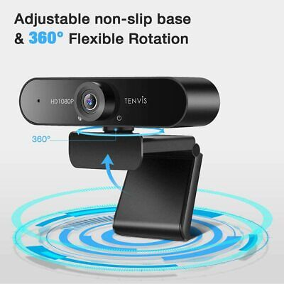 £29.99 • Buy TENVIS 120° Wide Angle Video Conference Conference Camera - 1080P Business Webca