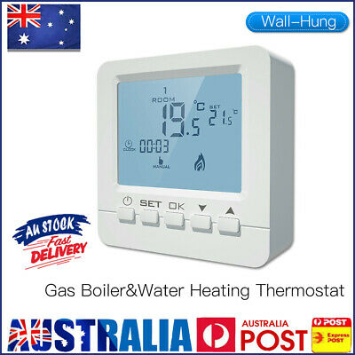 AU32.20 • Buy Wall Thermostat Controller Gas Boiler Heating Programmable LCD Thermostat