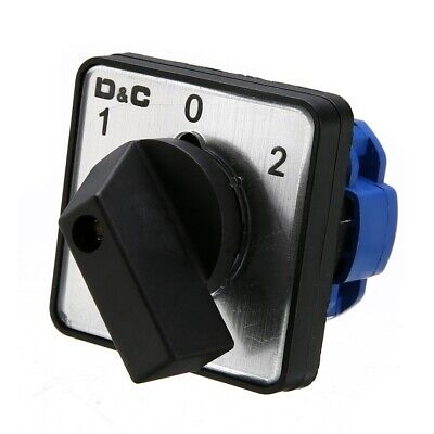 £7.29 • Buy AC 500V On-Off-On 3 Position Universal Rotary Selector Cam Changeover Switch﹑UK