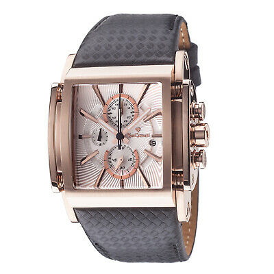 £179 • Buy YVES Camani ESCAUT Mens Watch Rosegold Plated Chronograph Leather Strap New