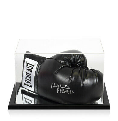 £419.99 • Buy Evander Holyfield Signed Boxing Glove - Everlast, Black - In Acrylic Display Cas